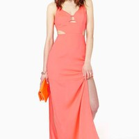 Hot Fun Maxi Dress - Coral