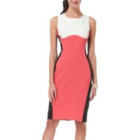 Ronni Nicole Body Outline Colorblock Sheath Dress