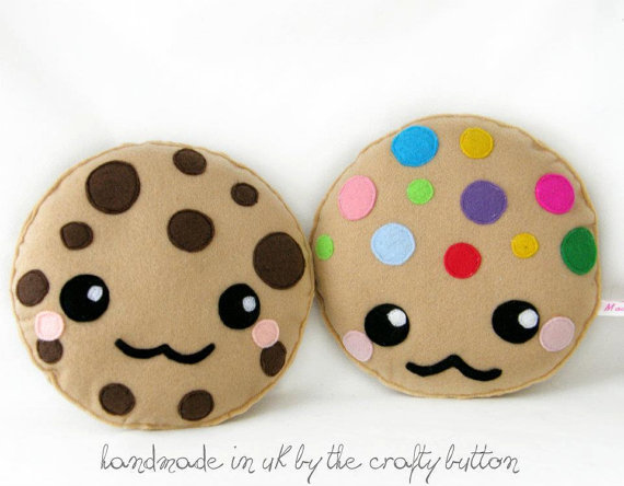 Kawaii cookie plush toy cushion cute from TheCraftyButtonUK on