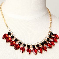 Vintage Waterdrop Shaped Gem Bib Necklace at Online Jewelry Store Gofavor