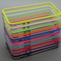 10pcs/lot Colorful Clear Bumper Frame TPU Case Cover for Iphone 5 5g w/ Volume Button:Amazon:Cell Phones & Accessories