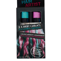 Hair Chalk Duo in Pink and Green - View All - Make Up - Topshop USA