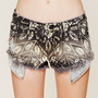 Free People Shibori Print Cutoffs