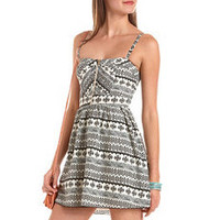 Zip-Front Aztec Tank Dress: Charlotte Russe