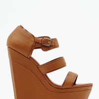 Isis Wedge - Tan