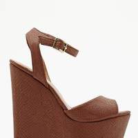 Belen Platform Wedge - Tan
