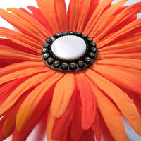 Hair Accessory Orange & Black by ndnchick on Etsy