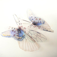 Butterflies all Over Organza Earrings Ready To Ship by jewelera