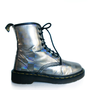 90&#x27;s Rainbow Holographic Dr. Martens Lace Up Boots // 6.5 - 7