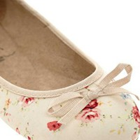 New Look Wide Fit Katherine Ballet Flat Shoes at asos.com