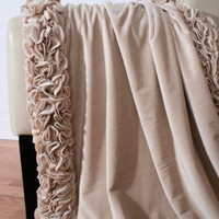 Regal Ruffle Microplush Throw