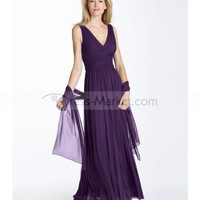 Sheath / Column V-neck Sleeveless Ankle-length Chiffon Prom Dresses / Evening Dresses (SZ020538 )