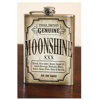 Flask 8oz Moonshine Stainless Steel by trixieandmilo on Etsy