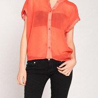 See Right Through Me Top in Coral