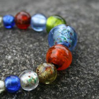 Multi Color Lampwork Bead and Chain Necklace | ButtermilkSkyDesigns - Jewelry on ArtFire