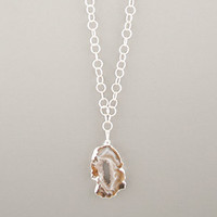 Persephone Geode Necklace | Rain Collection