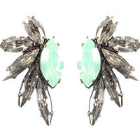 Elizabeth Cole Jade Mini Mohawk Earrings | Rain Collection