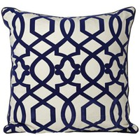 "Tangle 20"" Square Navy Blue Throw Pillow - #W6898 