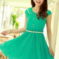 Doll Collar Lady Dress(Dark Green) from lovebird18