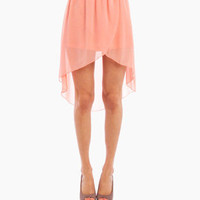 Sheer Tulip Skirt in Peach