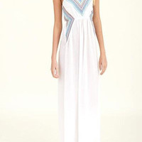 La Jolla Tribal Maxi - White -  $49.00 | Daily Chic Dresses | International Shipping