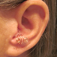 No Piercing Anti Tragus &quot;Spiraling&quot; Ear Cuff 1 Cuff  Color Choices
