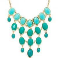 Cascading Falls Necklace in Teal - ShopSosie.com