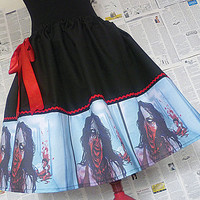 The Walking Dead, Zombie Clothes, Zombie Print Dress, Skirt, Undead Clothing, ROOBY LANE
