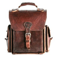 "A Chestnut Leather Backpack ""They'll Fight Over When You're Dead"""