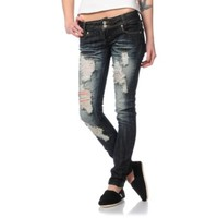 Almost Famous Molly Dark Indigo Skinny Jeans