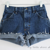 High Waisted Denim Shorts XS by MyLittleShortShop on Etsy