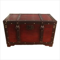 Buyers Choice Phat Tommy Trunk Retro Decorative Steamer Trunk