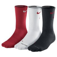 Nike Dri-FIT Cotton Fly Crew Socks 3 Pair -