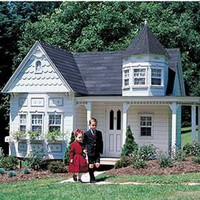 Grand Victorian Playhouse - Children&#x27;s Patio Furniture and Playhouses - Outdoor Furniture - Furniture - PoshLiving
