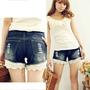 Casual Womens Hot Pants Trendy Frayed Cool Denim Short Trousers New Denim