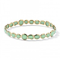 18K Gold Polished Rock Candy® Gelato Bangle in Mint Chrysoprase - Bangles - Shop By Category | Ippolita