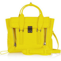 3.1 Phillip Lim | The Pashli medium shark-effect leather trapeze bag | NET-A-PORTER.COM