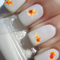 Gold Fish Nail Decals