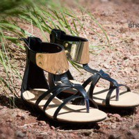 Bumper Lory-56 Strappy Gladiator Thong Sandal (Black) - Shoes 4 U Las Vegas