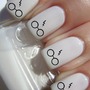 Harry Potter Glasses and Scar Nail Decals- 56 Per Purchase