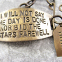 I will not say the day is done  hand stamped quote by CobwebCorner