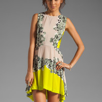 Shakuhachi Acid Bloom Kick Out Dress in Citrus from REVOLVEclothing.com