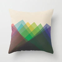 "16""x16"" Colorful Geometric Triangle Throw Pillow COVER ONLY"