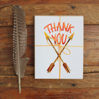 Pack of Three Thank You cards: Two Arrows
