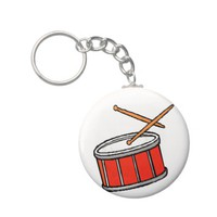 Snare Drum Red Key Chains from Zazzle.com