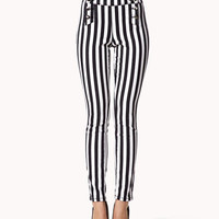 Mailot Vertical Striped Jeans