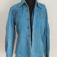MAYA LUNE Vintage 70's Western Denim Button-Down