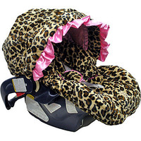 Lollipop Leopard Pink Infant Car Seat Cover