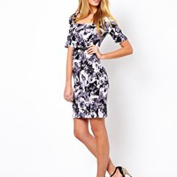 Oasis Floral Wiggle Dress at asos.com