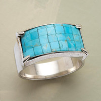TURQUOISE MOSAIC RING         -                  Band         -                  Rings         -                  Jewelry                       | Robert Redford's Sundance Catalog